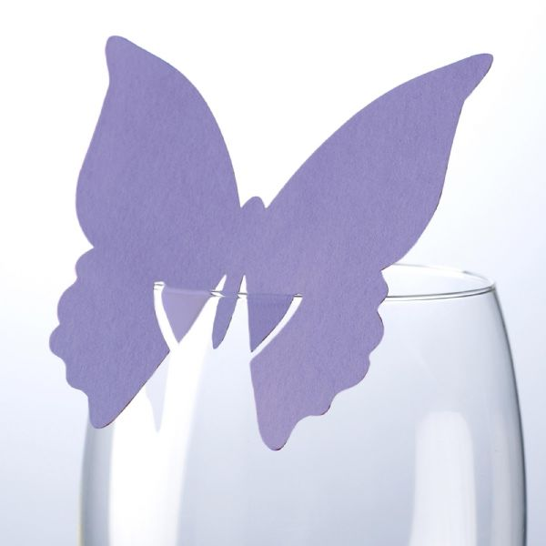 Lilac Butterfly Place Cards (10)